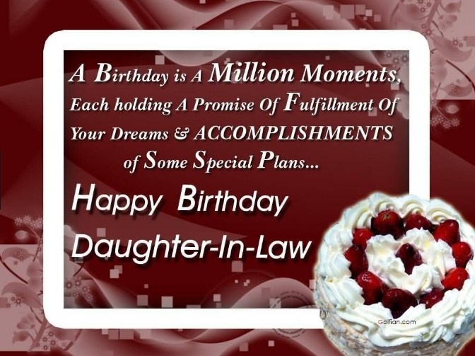 Congratulating To Your Daughter In Law On Her Birthday Is The Best Way Tell How Much You Love And Care About Sometimes Its Hard Find